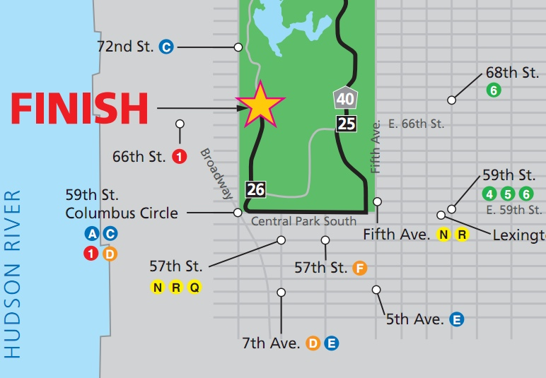A Spectators Guide To The New York City Marathon Food And Fun - Nyc marathon map